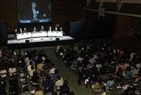 武蔵野大学 知的財産権還元を目的としたシンポジウム 写真